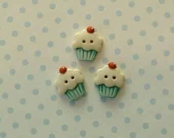 Cupcake Buttons set of 3