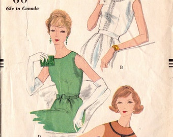 1950s Vogue 9729 UNCUT Vintage Sewing Pattern Misses Sleeveless Blouses Size 16 Bust 36