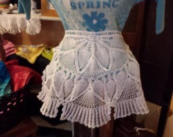 Vintage Handmade Crocheted Apron