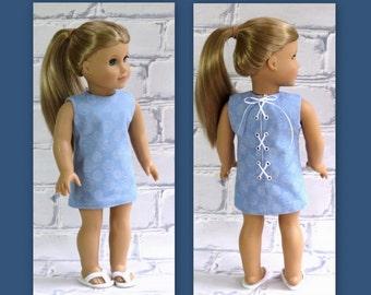Harajuku Summer - American Girl Doll Lace-up Sheath Dress, AG Mini Dress