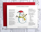 Project Snowman - Christmas Architecture Construction Card