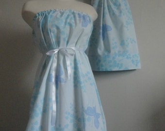 Mommy and Me Matching. Mother Daughter Clothing. Mommy and Me Matching Dresses. Matching Winter Dresses. Blue Rose Dress. Matching Dresses
