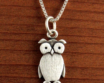 Tiny owl necklace / pendant