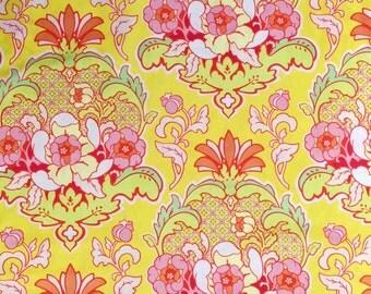 Heather Bailey Pop Garden Rose Pineapple Brocade Fabric HB08 Gold-Yellow