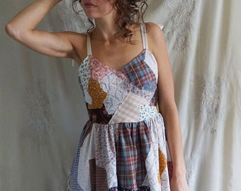 Patchwork Rabbit Costume... halloween cosplay whimsical dress calico bunny rabbit ears boho shabby vintage