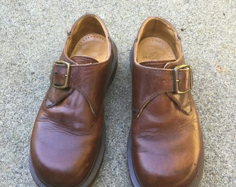 Dr. Martens Vintage Low Classic Monk Strap UK 4  Doc Marten Shoes Made in England