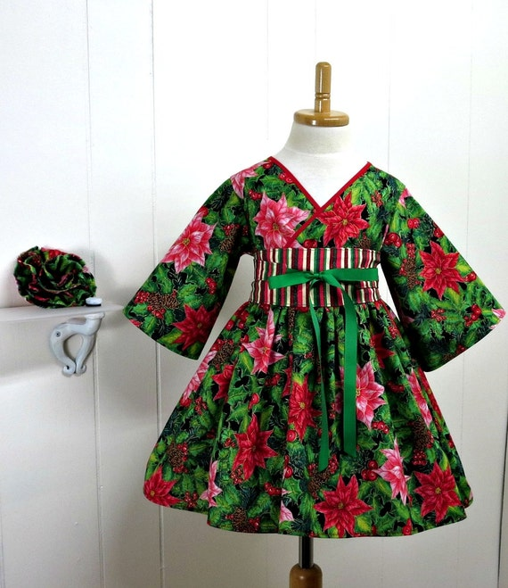 Christmas dress holiday dress boutique dress little girl dress