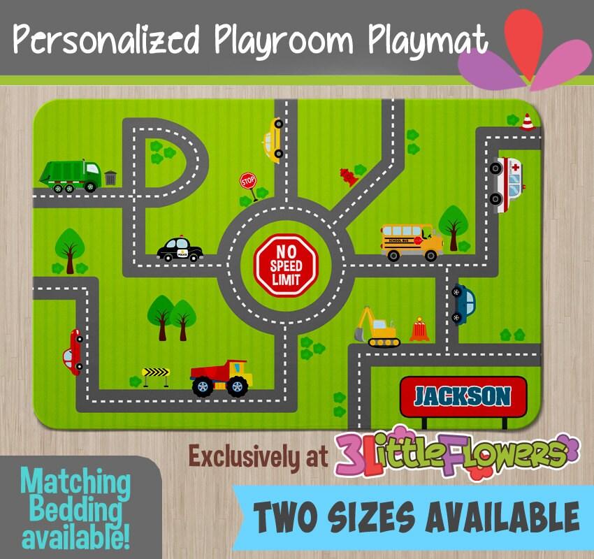 Race Tracks Playmat Personalized Playmat Personalized