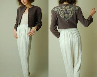 Crop BYBLOS Jacket Vintage Clay Wool BYBLOS Made in Italy Crop Indie Urban Jacket (s m l)