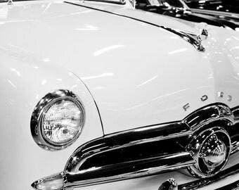 1949 Ford Custom Convertible Car Photography, Automotive, Auto Dealer, Classic, Muscle Car, Mechanic, Boys Room, Garage, Dealership Art