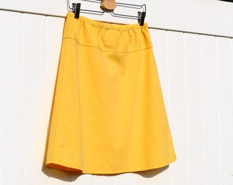Organic skirt, Simple A-Line Skirt, Custom Made, You choose Color, length, and Fit: Fitted, Comfy, Loose