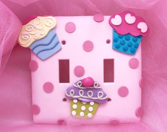 Cupcake Double Light Switch Cover