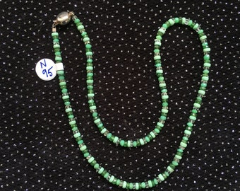 Chrysoprase, Apatite, Tsavorite, and Veracity Necklace  N95