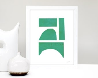 Home Decor Abstract Prints, Modern Design Poster, Abstract Art Prints Contemporary, Green