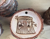 Tree Carving Ornament - Customize, Custom Ornaments, Home Decor, Wedding, Christmas Tree