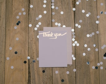 Rose Gold Foil Thank You Cards - 10pk