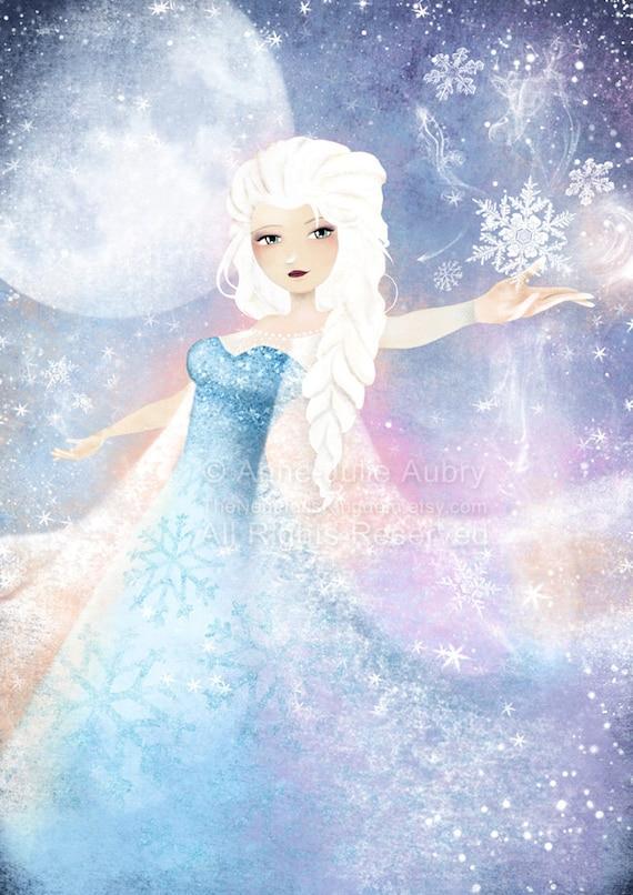 Elsa (Frozen) - open edition print