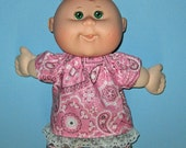 Cabbage Patch Newborn  Teeny Tiny Preemies  Doll Clothes Pink and Grey Short  Set  10 inch  Doll Clothes Cabbage Patch 12 inch Newborn