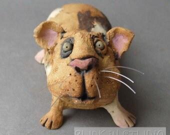 Guinea Pig Ceramic Animal Sculpture