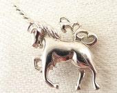 Vintage Sterling Unicorn Pendant