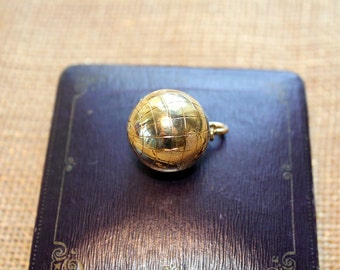 14k Yellow Gold World Globe Charm-Huge- 12 Grams