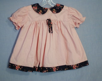 2T Girl's Pink Peter Pan Collar Dress