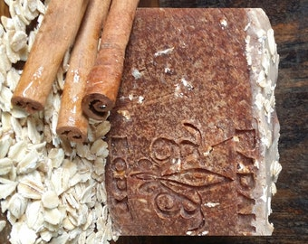 Badan Organic Cinnamon Oats & Honey Shea Butter Soap Moisturizing Dry Skin Soap All Natural Soap Handmade Soap Gentle Cleanser