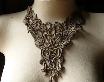 SALE GOLD Lace Applique in Antique Gold Venise Lace for Lyrical Dance, Costume Design, Garments CA 401