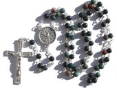 Gifts of the Holy Spirit Bloodstone Heliotrope Rosary