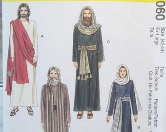 Adult Nativity Sewing Pattern McCall's 2339 Biblical Costumes, Mary, Jesus, Apostles, Roman Soldier, Priest Christmas Costumes Size 42 - 44