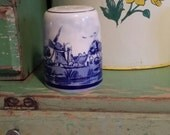 Vintage ~ Delfts Blue ~ Handpainted ~ Windmill ~ Holland ~ Salt Shaker