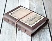 Tall Ship Leather Journal, Rustic Travel Journal