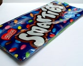 Pencil Case - UPCYCLED Smarties candy bag recycled into apencil case or make up bag