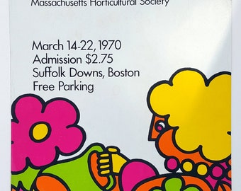 1970's Spring Garden and Flower Show Poster, Boston, MA