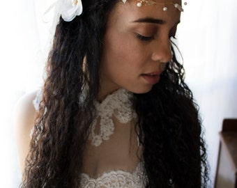 hair vine, bridal vine, double leaves headband, wedding headband, gold headband, leaves headband, gold leaves headband, wedding veil, veil,