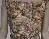 1950's CLASSIC Sheath Dress. Australian Animals