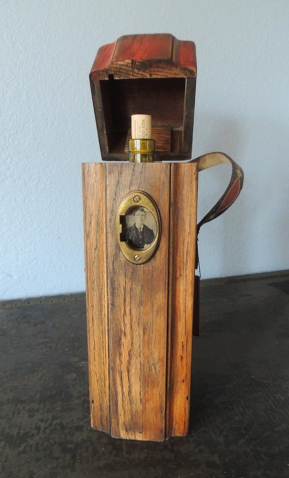 Reclaimed wood gift container.