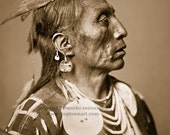 Medicine Crow, Professionally Restored Photograph Reprint of Vintage Native American Indian by Edward Curtis