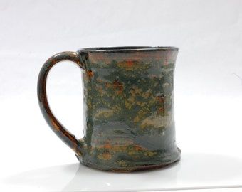 16 oz Mug Green Monster Runny Rain Forest Ceramic Ceramic Mug Large