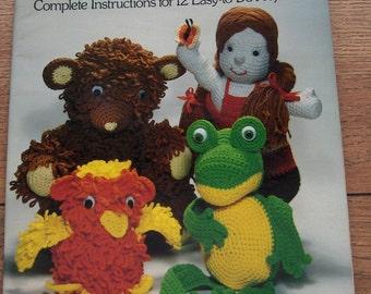 Vintage 1978 Crochet patterns TOYS DOLLS 12 Projects