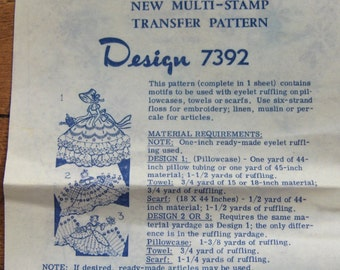 Vintage 70s Mail Order pattern no. 7392 GIRLS 1978 unused