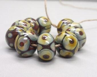 10 handmade lampwork beads (10)
