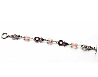 Topaz Crystal Bracelet  , Toggle Clasp