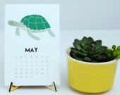 2017 Nautical Calendar, Under the Sea Desk Calendar, Sea Creatures, Ocean Decor, Whale Decor, 2017 Desk Calendars, Gifts Under 25