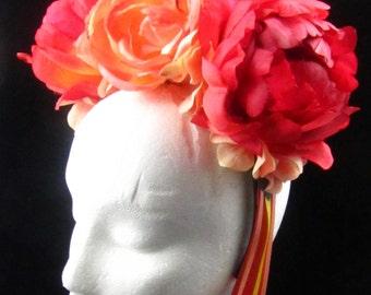 OOAK Sunrise Headdress for Day of the Dead/Wedding/Cospay