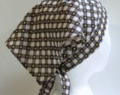 Triangle Kerchief, Adult Triangle Head Scarf, Bandana, Vinatge Fabric