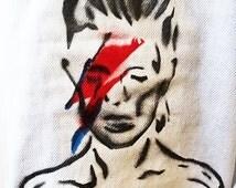 David Bowie Pants/Boyfriend Jeans/Folk Art Clothing/Ziggy Stardust/Music Festival Clothing/Coachella/ Burning Man/Bonnaroo/David Bowie Ziggy