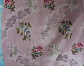 18th Century Spitalfields Brocaded Silk Panel with Silver Metallic Thread English, ca. 1760
