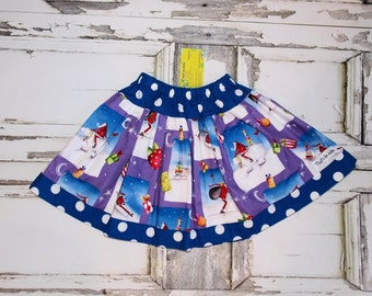 Ready To Ship! Polar Bear Express Santa Christmas Twirl Skirt Size 4 5 6 Readymade by That's So Addie Made in USA Holiday Winter