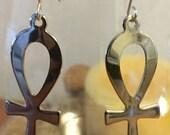 Ankh Earrings- Death from Sandman Inspired